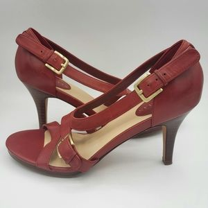 Cole Haan heels, Red,  Near New, 6.5B